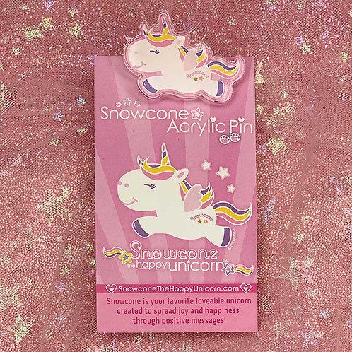 Snowcone Acrylic Pin