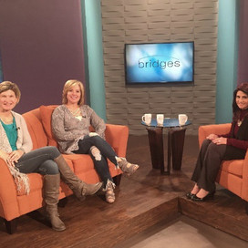 Rachel and I on the CBN network!