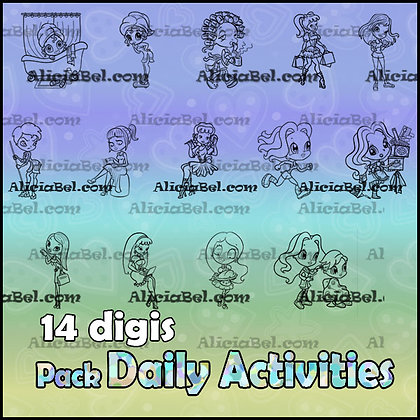 Pack Daily Activities (14 Digis)
