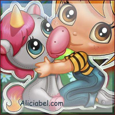 Anita and her Unicorn