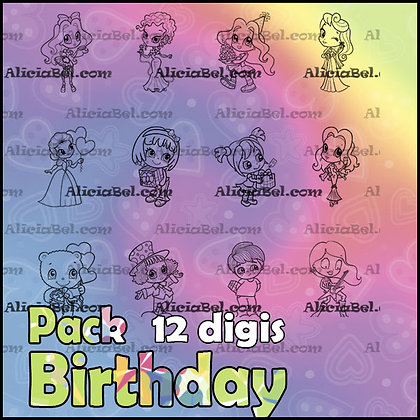 Pack Birthday (12 Digis)