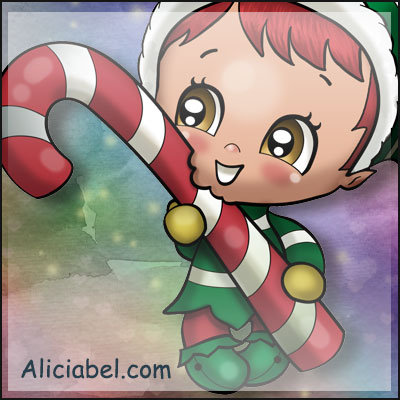 Elf with Candy Stick