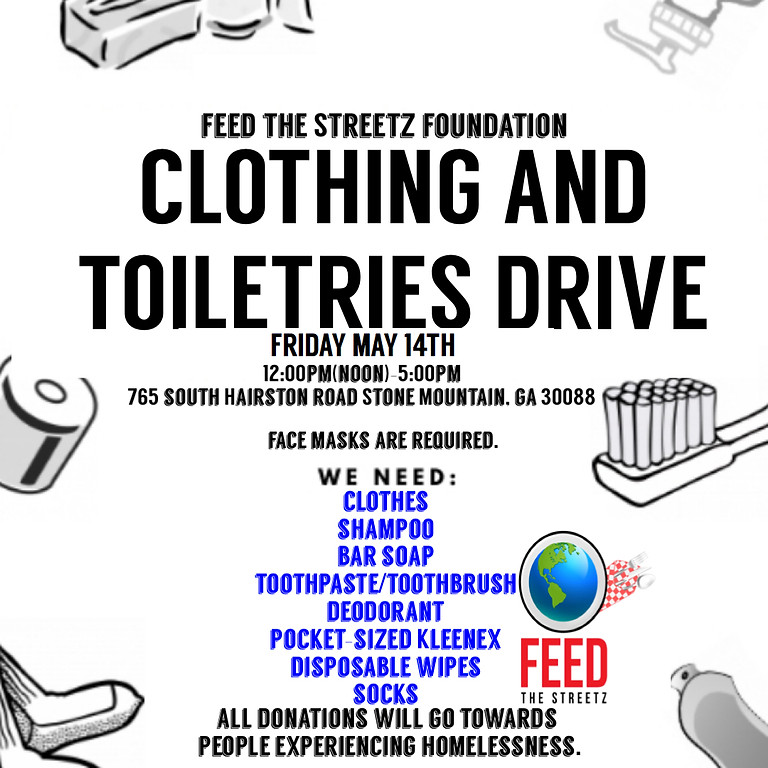Clothing 👚👕👖& Toiletries 🧴 Drive