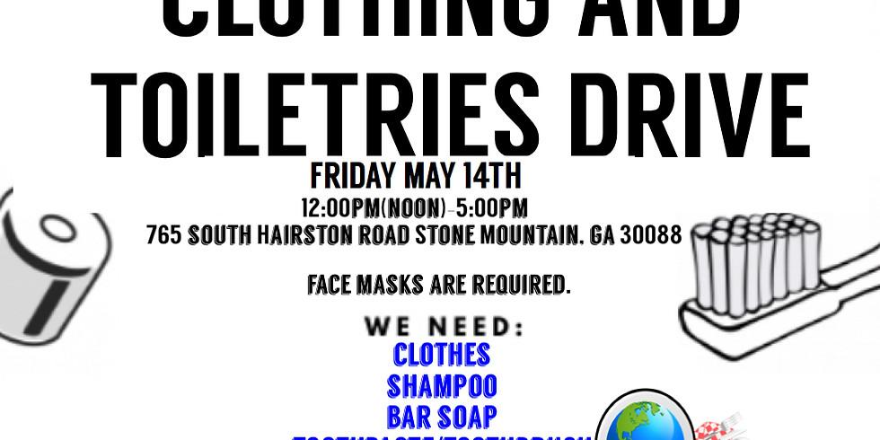 Clothing 👚👕👖& Toiletries 🧴 Drive