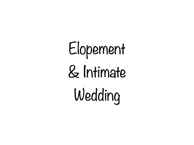 Elopement & Intimate Wedding