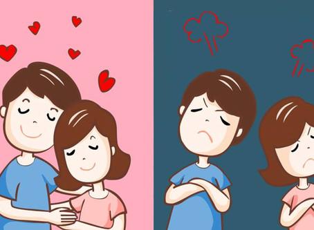 Cinco diferenças entre um relacionamento tóxico e um relacionamento saudável: