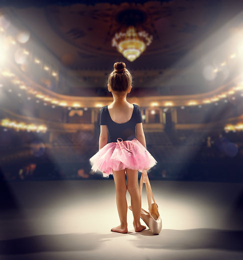 little girl plays in the ballet.jpg
