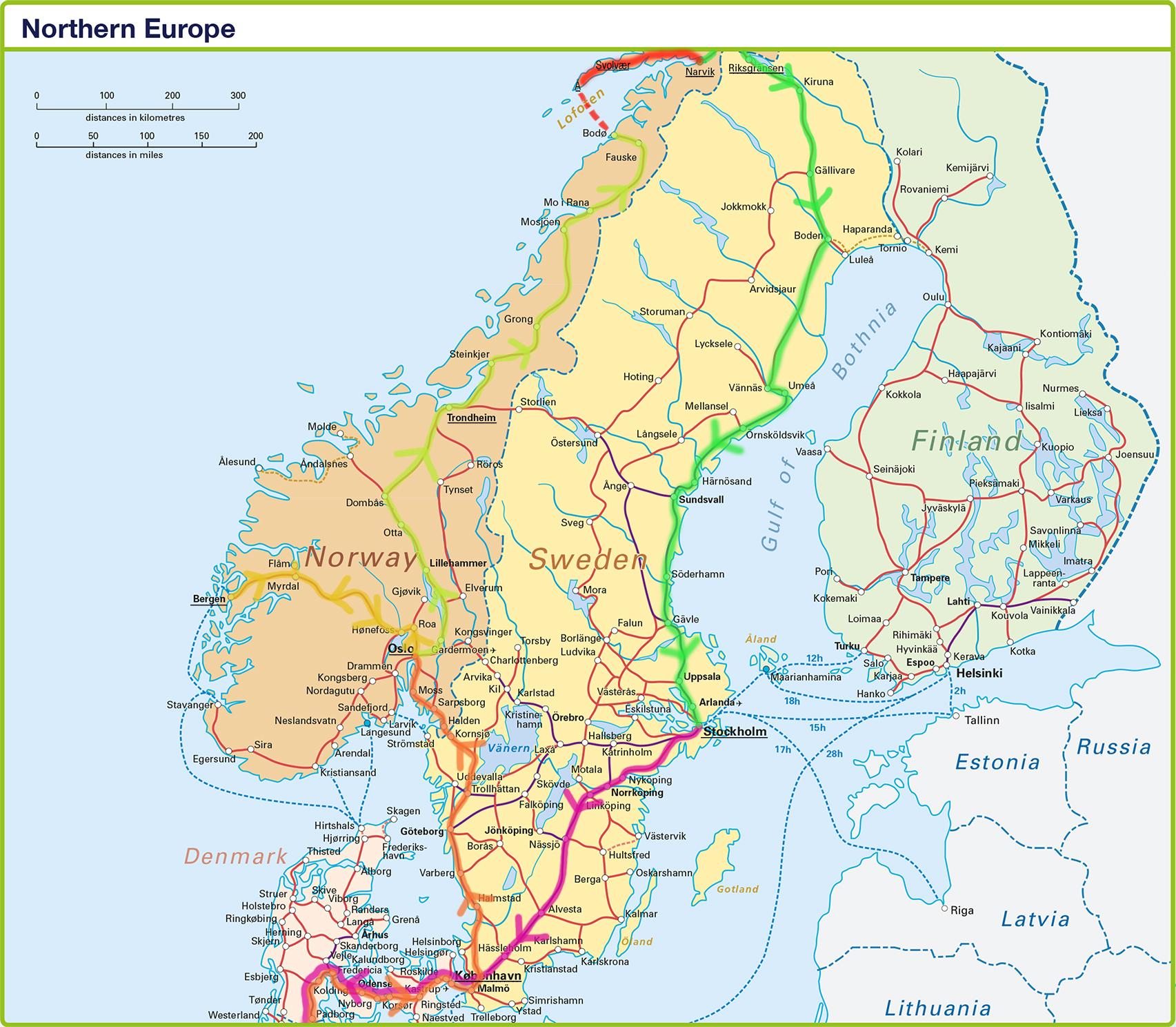 interrail skandinavien