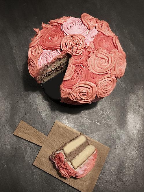 Rose kage med 1 lag