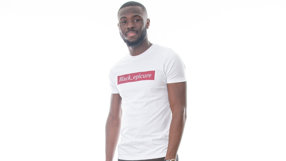 Tee shirt Black_epicure white/red