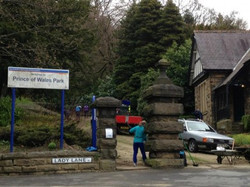 Lodge entrance before the new sign