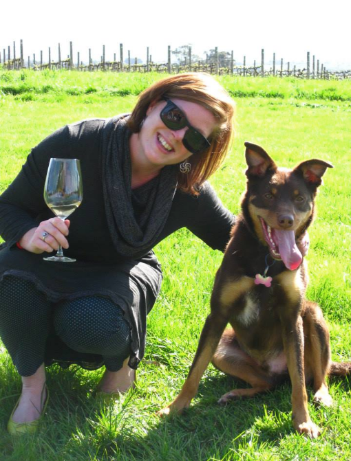 Henry the Kelpie enjoys a wine tour at Maddens Rise Yarra Valley