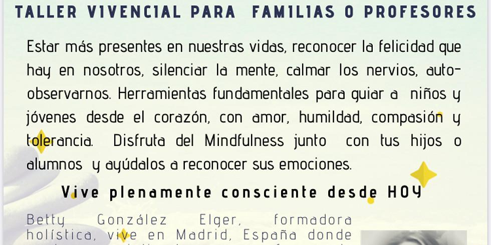 TALLER DE MINDFULNESS PARA PROFESORES Y FAMILIAS