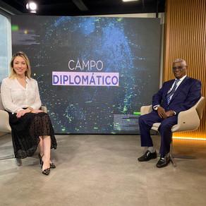Embaixador Yalew Abate Reta concedeu entrevista para o programa Campo Diplomático   Canal Band