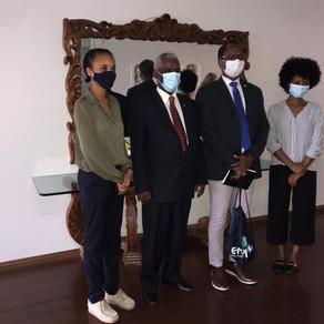 S.E. O Embaixador Yalew Abate reuniram com o Sr. Rui Mucaje, Presidente da Afrochamber