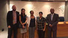 Representatives of the Ethiopian Embassy promote tourism in Rio