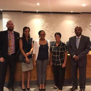 Representatives of the Ethiopian Embassy promote tourism in Rio