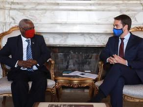 S.E o Embaixador Yalew Abate se encontrou com S.E. Eduardo Leite, Governador do Estado do Rio Grande