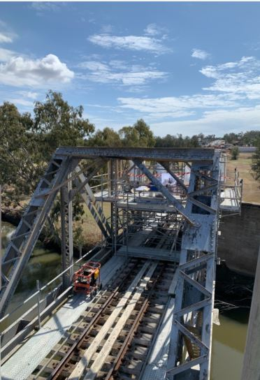 Scaffold for Rail Bridge Works