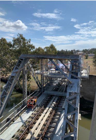 Scaffold for Rail Bridge Works