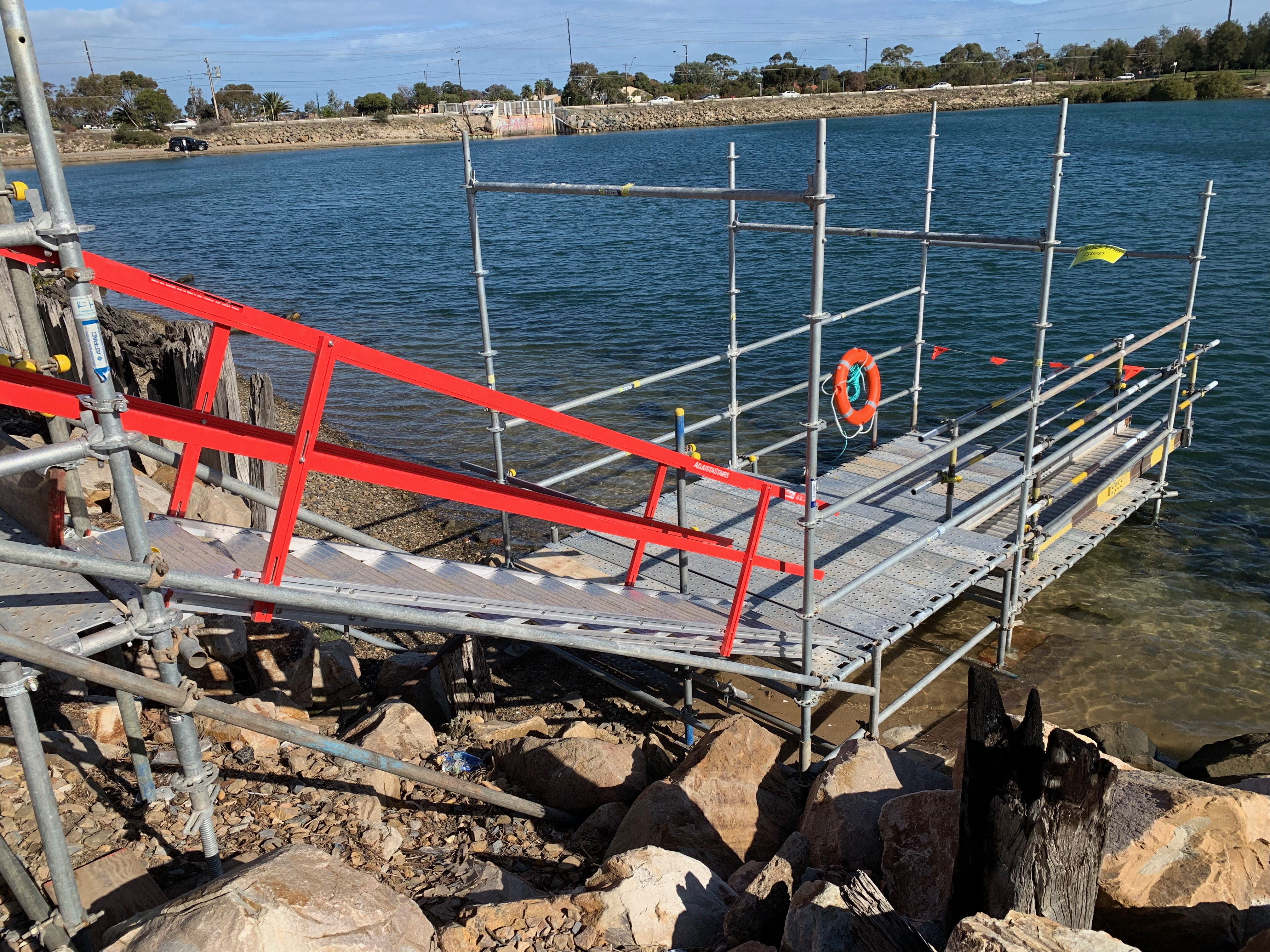 Scaffold Access to Pontoon Adelaide Port