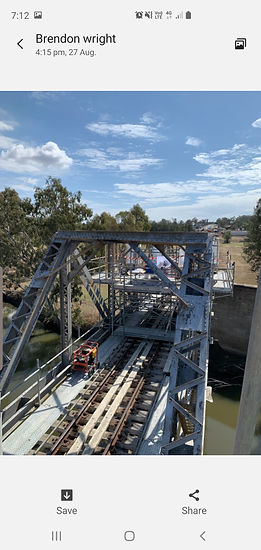 Condamine Rail Bridge Pic scaffold compl