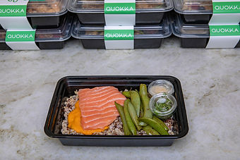 Poached salmon Quokka nutritious meal delivery