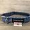 Thumbnail: Harris Tweed Blue Multi Stitch Dog Collar