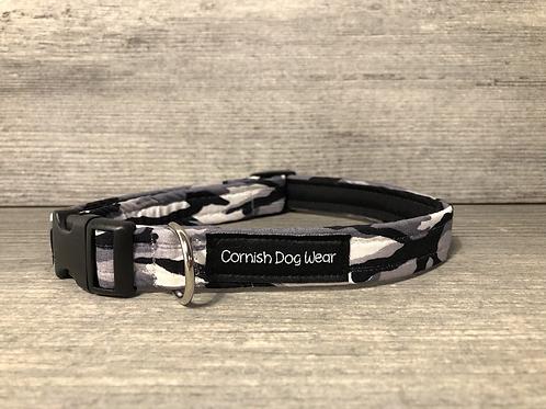 Grey Camo Dog Collar