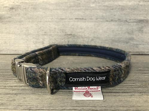 Harris Tweed The Cornish Heather Check Dog Collar