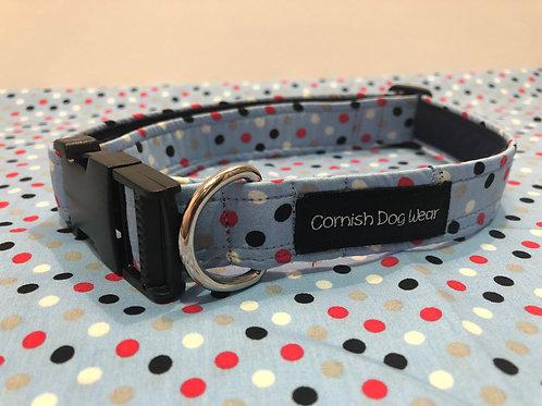 Blue Multi Spit Dog Collar
