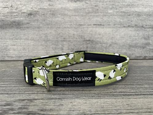 Green Sheep Dog Collar