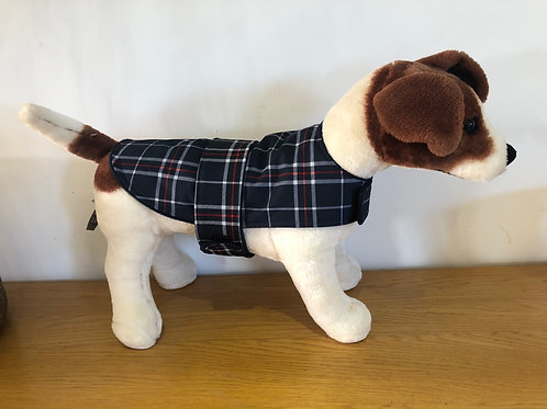 Blue Tartan Wind and waterproof Dog Coat