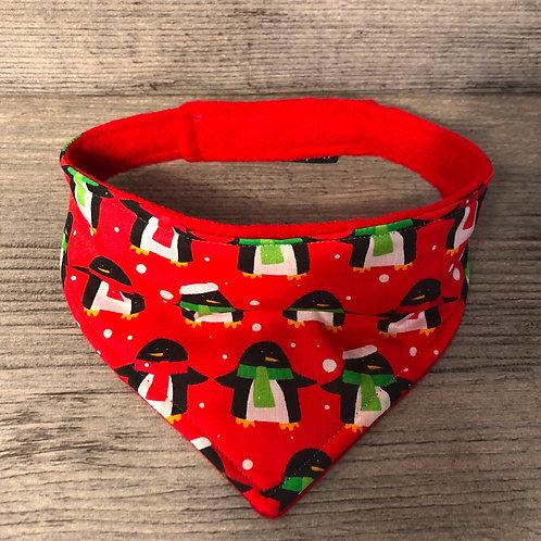 Red Penguin Christmas Dog Bandana