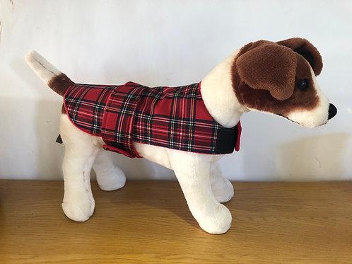 Red Tartan Wind and waterproof Dog Coat
