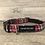 Thumbnail: Raspberry, Grey and yellow Tartan Dog Collar