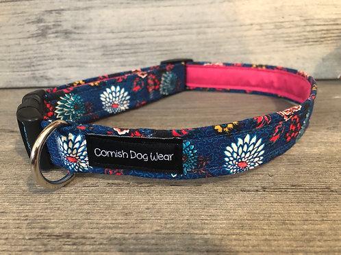 Liberty Chrysanthemums Dog Collar