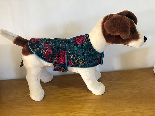 Aqua Rose Lightly Padded Dog Coat