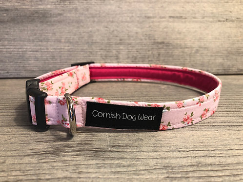 Vintage rose dog collar