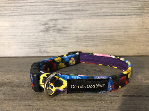 Pansy Dog Collar
