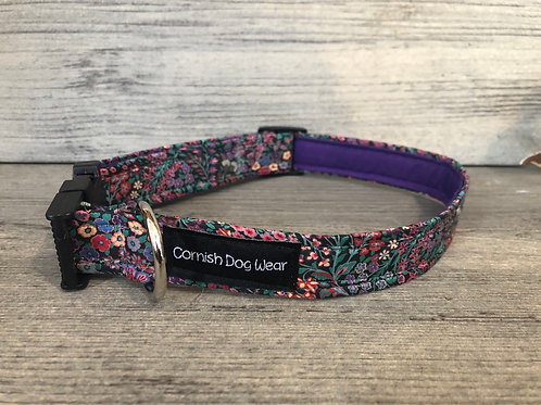 Liberty Purple Woodland Dog Collar