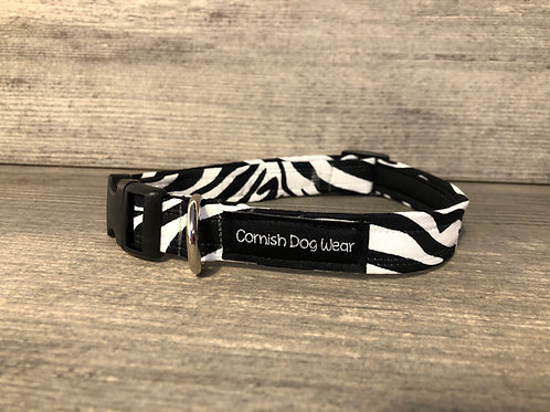 Zebra Print dog collar