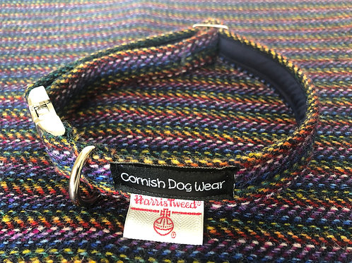 Harris Tweed Multi Weave Dog Collar