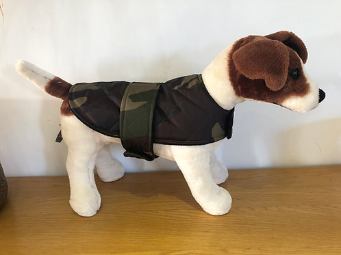 Camo Padded Shower Proof Dog Coat