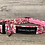 Thumbnail: Clouds Of Pink Flowers Dog Collar