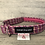 Thumbnail: Harris Tweed Bright Pink Multi Stitch Dog Collar
