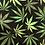Thumbnail: Hemp Leaves Marijuana Dog Collar