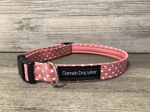 Blush Pink Spots Dog Collar
