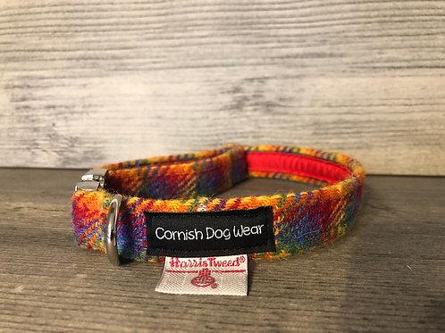 Harris Tweed Rainbow Dog Collar