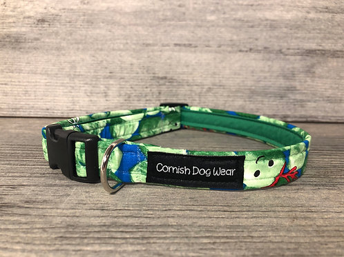 Brussell Sprout Christmas Dog Collar